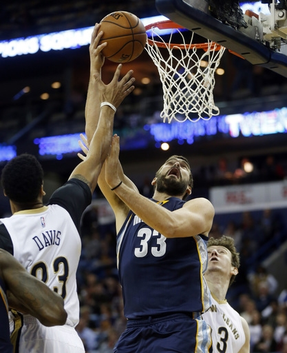 Gasol, Grizzlies outlast Pelicans, 110-108 in double OT The Associated Press