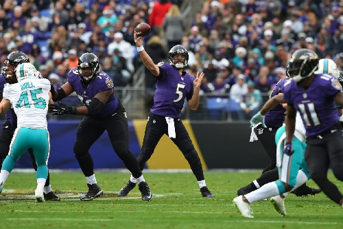 Joe Flacco's record setting day by the numbers