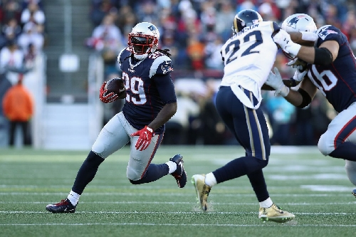 Patriots RB LeGarrette Blount aims to set personal and franchise records against stingy Ravens defense