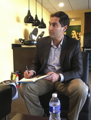 A's President Kaval opens doors to fans for office hours The Associated Press