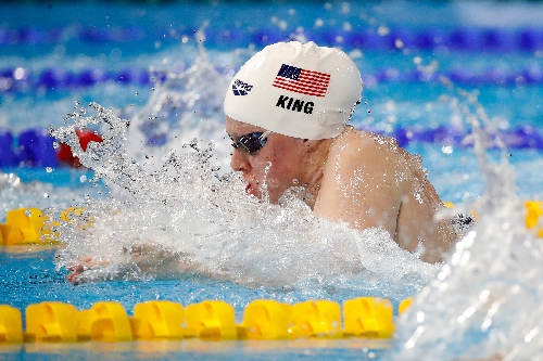Lilly King sets American record; IU's Blake Pieroni wins relay bronze