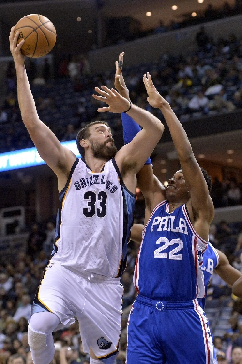 Gasol has 26 points, 12 boards to lead Grizzlies past Sixers The Associated Press