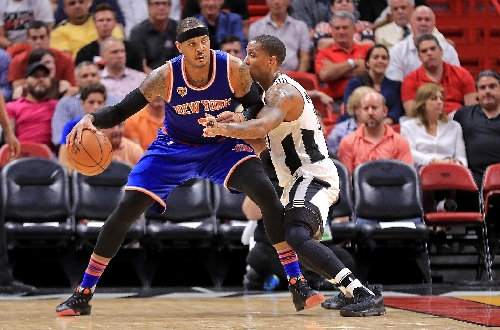 Anthony and Knicks down Heat in warm-up for Cavs