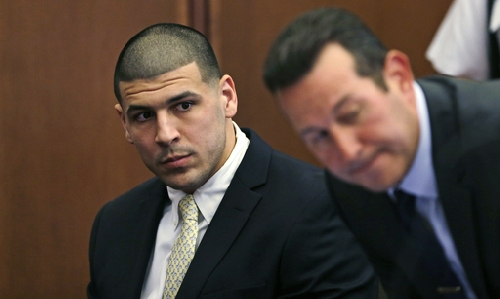 Aaron Hernandez in court for 2012 drive-by shootings The Associated Press