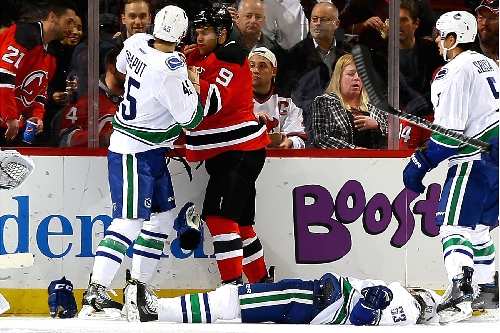 Taylor Hall leads Devils with goal, assist and a devastating hit