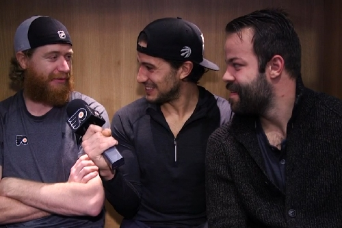 Michael Del Zotto interviews Jakub Voracek, Radko Gudas about their beards