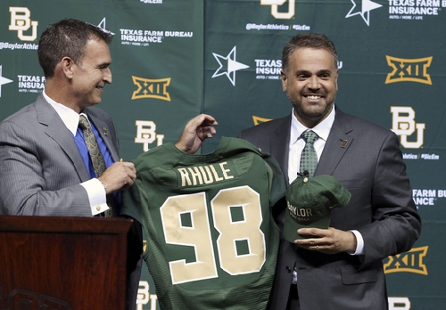 Baylor Rhule: Bears introduce coach in campus celebration The Associated Press