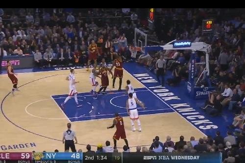 Watch: LeBron James throws down in the Garden