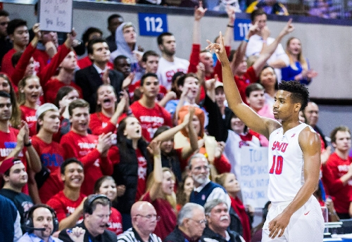 Celebs on hand as SMU men hand TCU its first loss before raucous, sellout crowd at Moody