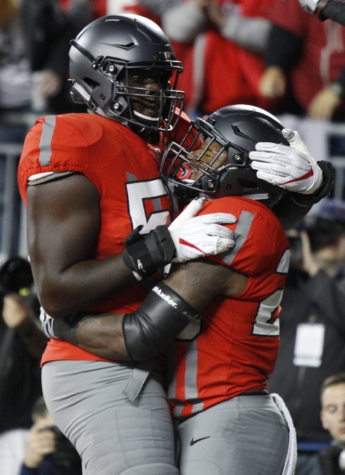 Ohio State's offensive line has room to grow and a goal in mind: Be like 2014 Buckeyes