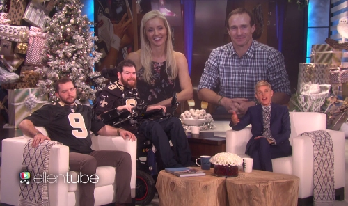 Ellen DeGeneres, Drew Brees and your feel-good Who Dat video of the day