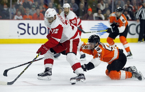 Red Wings' Andreas Athanasiou to return Friday