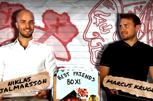 Niklas Hjalmarsson and Marcus Kruger play the Best Friends Box