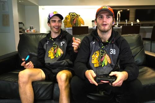 Ryan Hartman, Trevor van Riemsdyk take on the St. Louis Blues in NHL17