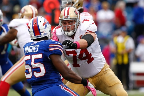 49ers-Jets injury report: Joe Staley misses practice with hamstring injury