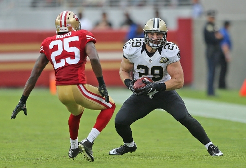 Saints leaning on fullback John Kuhn's versatility in pass game
