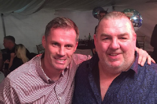 Jamie Carragher spends an evening in Cardiff with his hero - Everton icon Neville Southall