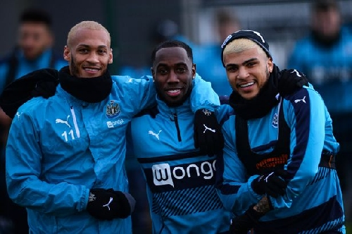 Pressure? Newcastle United players are all smiles ahead of Birmingham City clash
