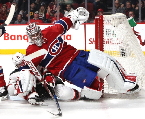 Devils coach John Hynes won't discourage play leading to Carey Price attack