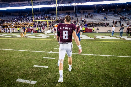 Trevor Knight's status still unclear for Texas Bowl vs. Kansas State: 'He's better than he was'