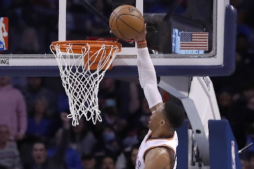 Thunder's Russell Westbrook has 7th straight triple-double The Associated Press
