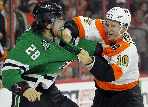 Schenn's hat trick leads Flyers to 8th straight win The Associated Press