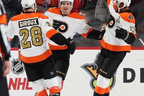 Flyers vs. Stars recap: Brayden Schenn's power play hat trick pushes Flyers to eight straight wins