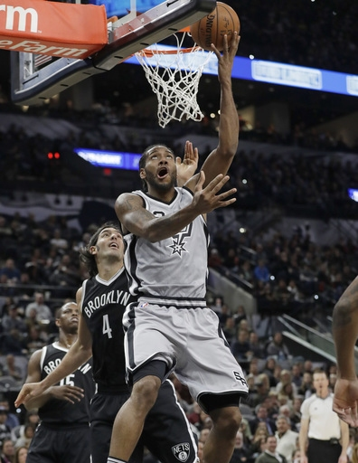Leonard scores 30 points, Spurs rebound to beat Nets 130-101 The Associated Press