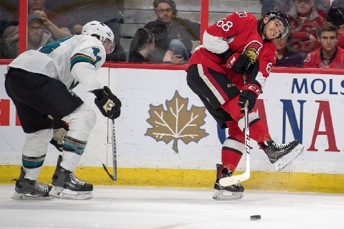 Senators' Mike Hoffman suspended two games for cross-checking Logan Couture