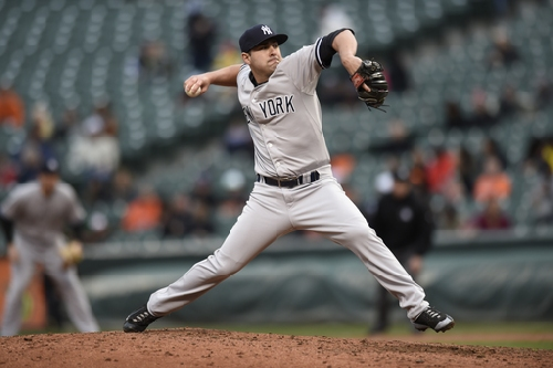 Yankees trade reliever Nick Goody to Indians The Associated Press