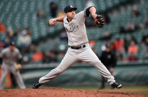 Cleveland Indians acquire reliever Nick Goody from New York Yankees
