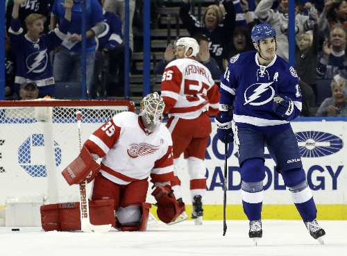 Both starting goalies hurt in Red Wings-Lightning game The Associated Press