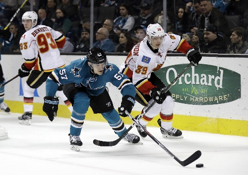 Donskoi has first multi-goal game, Sharks beat Flames 4-1 The Associated Press