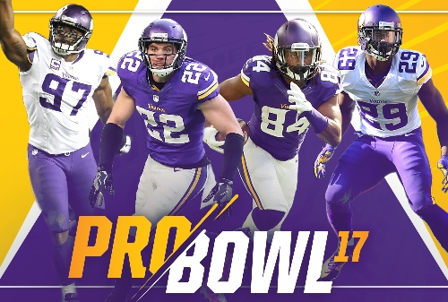 Four Vikings Selected To Pro Bowl