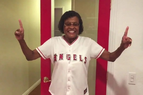The amazing Angels Grandma built a Halos-related sanctuary that puts all of our rec rooms to shame