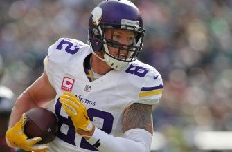 Kyle Rudolph has the most perfect cleats for the Vikings' Christmas Eve game