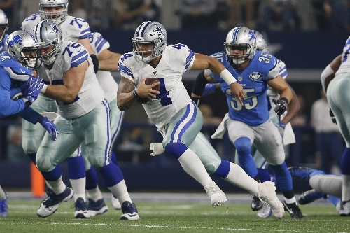 Powered by Dak Prescott, Ezekiel Elliott, Cowboys crush Lions