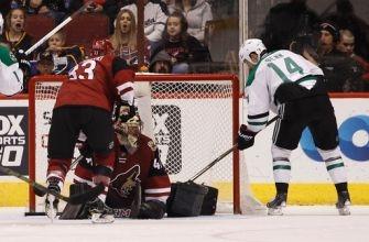 Lehtonen, Stars win heated game vs Coyotes