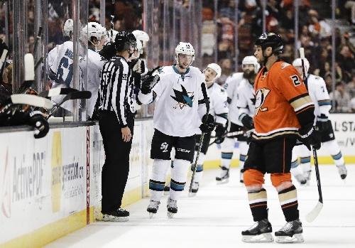 Burns scores winner as Sharks down Ducks in OT The Associated Press