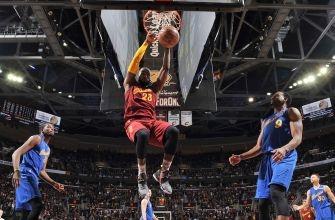 LeBron James defends hanging on the rim, Richard Jefferson's 'foul' vs. Warriors