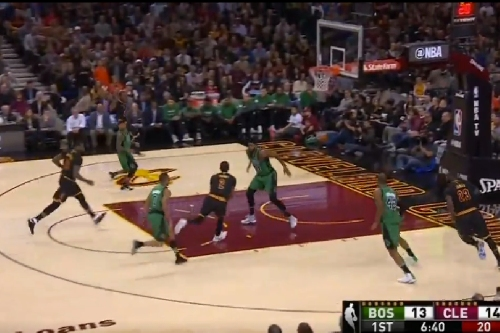 Watch: Kyrie sets up a Tristan Thompson slam