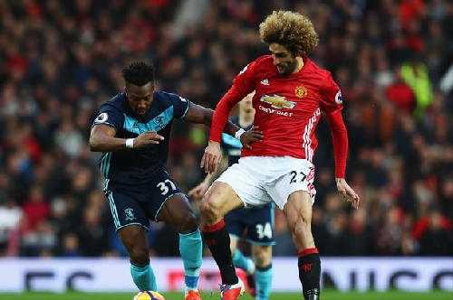 Manchester United manager Jose Mourinho praises Marouane Fellaini vs Middlesbrough