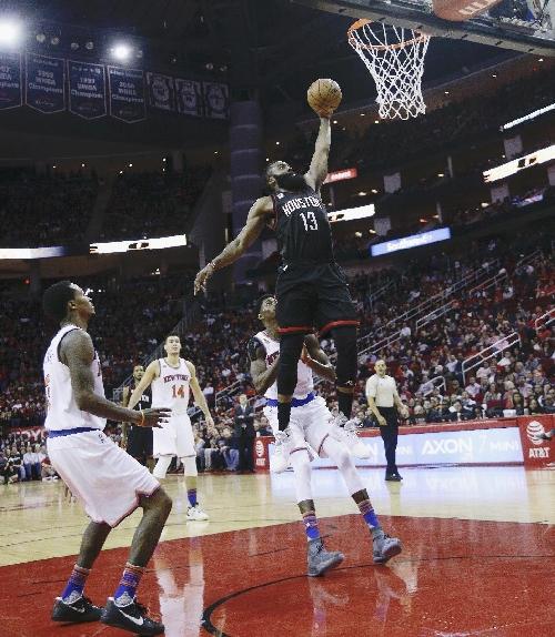 Harden scores 53 in triple-double, Rockets beat Knicks The Associated Press