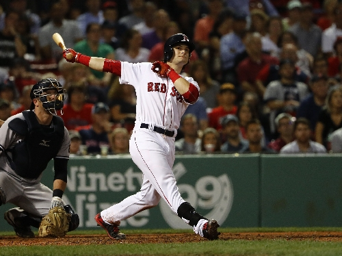 Andrew Benintendi, Boston Red Sox LF, voted top prospect, beating out Yoan Moncada