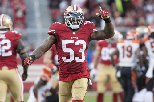 NaVorro Bowman's Achilles rehab is going well