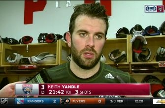 Keith Yandle says you can't make excuses after a loss
