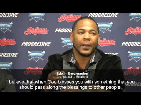 Edwin Encarnacion on giving $100,000 to Cleveland and Domincan baseball programs