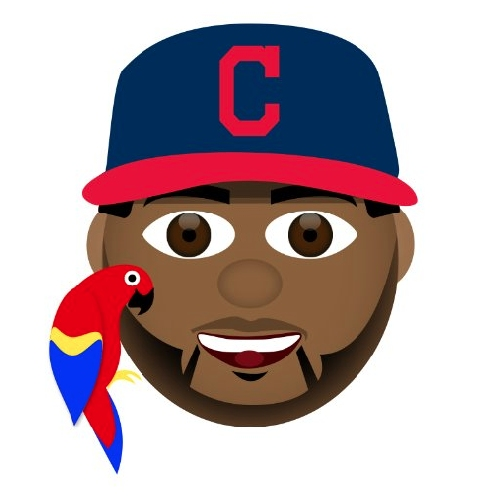 Why does Edwin Encarnacion's new Cleveland Indians emoji include a parrot?