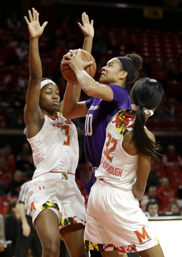 No. 3 Maryland women breeze past Northwestern 96-65 The Associated Press
