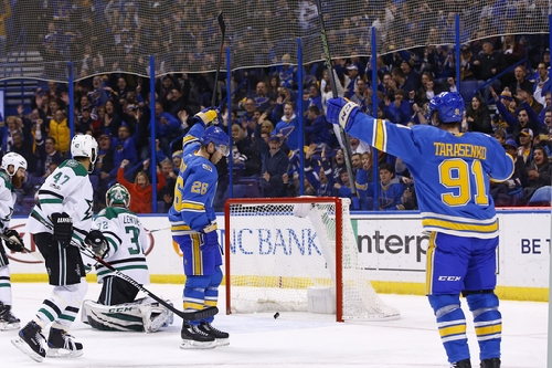 Berglund lifts Blues to 4-3 win over Stars The Associated Press